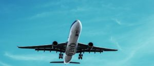 Commercial Airplane in the sky