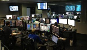 Workers inside The Dispatch Center