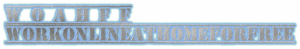 W O A H F F WORKONLINEATHOMEFORFREE blue and gray color in steel LOGO