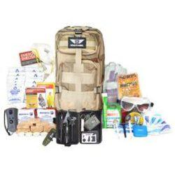 showing 1 Person Emergency Kit and supplies food water first aid equipment