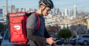 Dash Door Cyclist Delivery Driver Red Food Carry Backpack