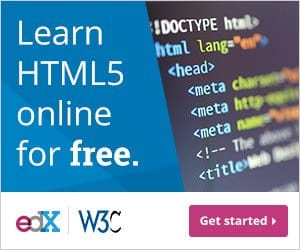Learn HTML5 online for free. edX W3C Get Started Website code language