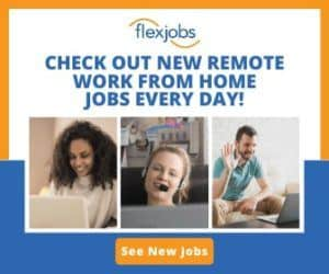 Flexjobs Check out new remote work from home jobs every day! See New Jobs