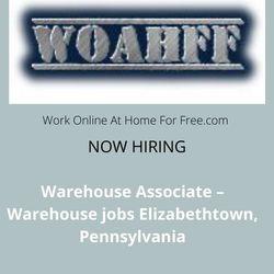 Warehouse Associate – Warehouse jobs Elizabethtown, PA