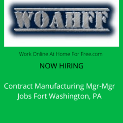 Contract Manufacturing Mgr-Mgr Jobs Fort Washington, PA