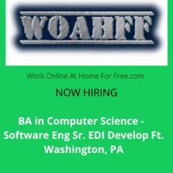 BA in CS-Software Eng Sr EDI Develop Ft. Washington, PA