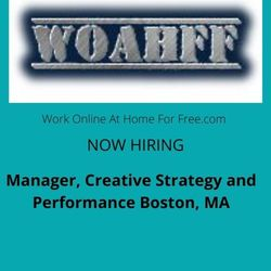 Manager, Creative Strategy and Performance Boston, MA