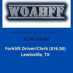 Forklift Driver/Clerk ($16.50) Lewisville, TX