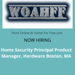 Home Security Principal Product Manager, Hardware Boston, MA